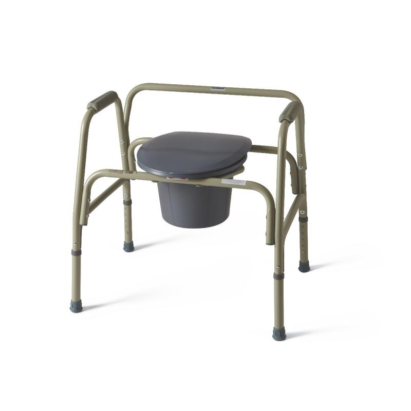 """COMMODE,EXTRA WIDE,24"""" WIDE,650 LB CAP"""